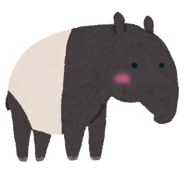 バクが夢を食べると言われる由来とは?日本の動物園でも見れる?